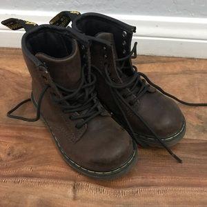 Brown Dr. Marten Boots Brown size 8 Kids